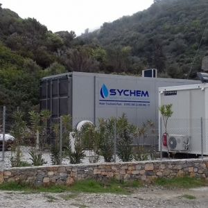 Seawater desalination plant of Sychem SA, capacity 600 m³ / day